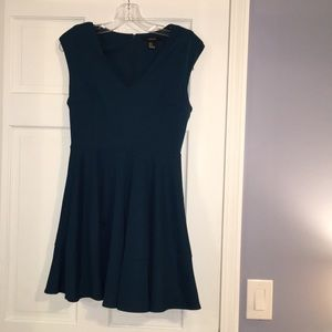 FOREVER 21// Beautiful Teal Dress